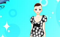 black white dressup