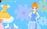 flower gown dressup