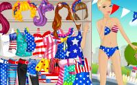Barbie USA dressup