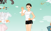 skirt blouse dressup