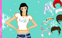 snow fashion dressup