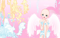 white angel dressup