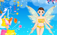 yellow fairy dressup